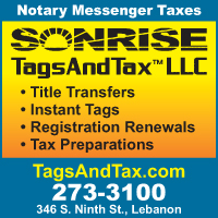 Sonrise Tags And Tax