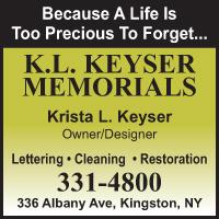 K.L. Keyser Memorials