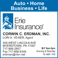 Corwin E. Erdman Erie Insurance Agency serving the Lebanon, PA Area