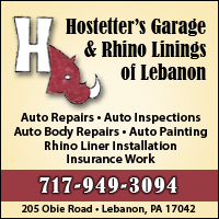 Hostetter's Garage & Rhino Linings of lebanon