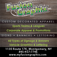 Custom Embroidery & Silk Screening Montgomery NY-Fusion Graphix Inc.