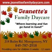 Daycare in Montgomery, NY- Jeanette's Family Daycare