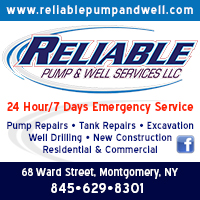 Water Pumps-Well Drilling-Pressure Tanks in Washingtonville, NY | Reliable Pump & Well Services